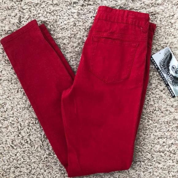 Be-Girl Denim - Women's Red Jeans